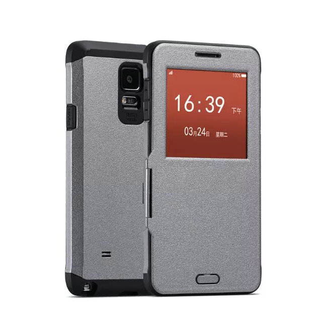 Luxury Sleep Armor Case For Samsung Galaxy Note 4 N9100 Dual Layer Hybrid Accessories Tough Logo Armor Hard Back Cover for note4(China (Mainland))