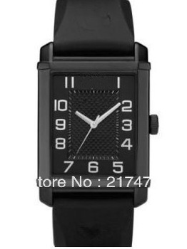Free shipping+ wholesale! Classic men watch AR0499 Black rubber strap Black dial.(China (Mainland))