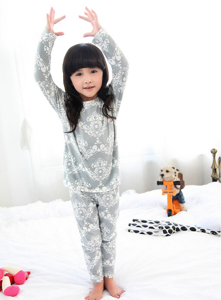 Cute Pyjama Children,Pyama Children Boys,Girls Sleepwear,2016 New Cotton Cloth Full Sleeve Home Amusement 2Pcs Sleepwear Go well with 031610 (2)
