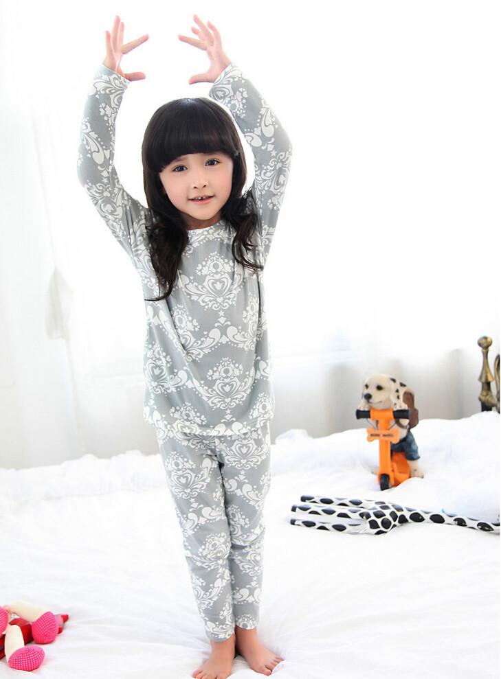 Cute Pyjama Children,Pyama Children Boys,Girls Sleepwear,2016 New Cotton Cloth Full Sleeve Home Amusement 2Pcs Sleepwear Go well with 031610 (2)