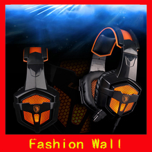 Consumer electronics 3.5mm LED earphone headphone noise canceling PC gaming headset auriculares fone de ouvido glow in the dark