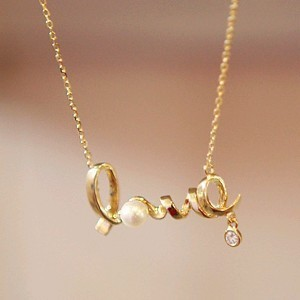2014 Korean Fashion Alloy Jewelry Gently Around The Word Love Chic Love Choker Necklace Women Wholesale
