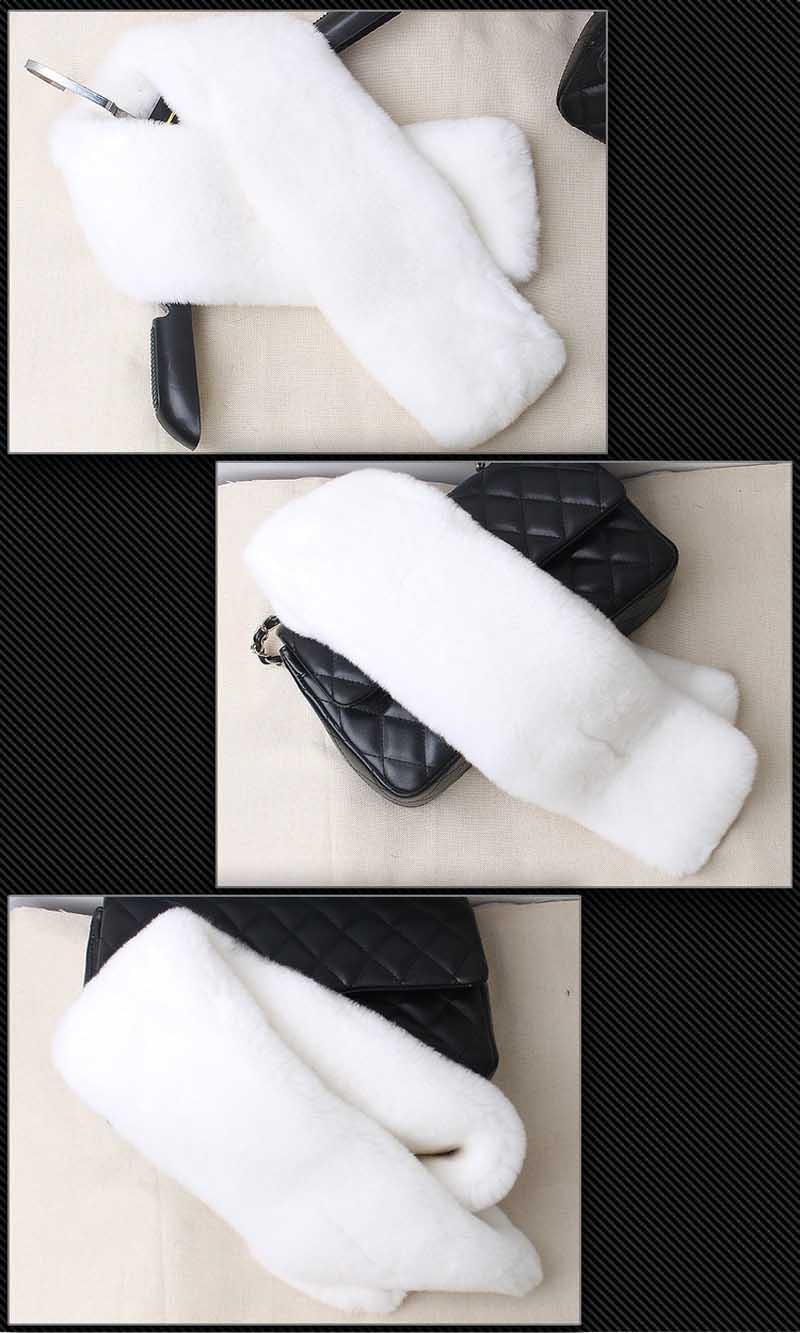 rex fur scarf white 2