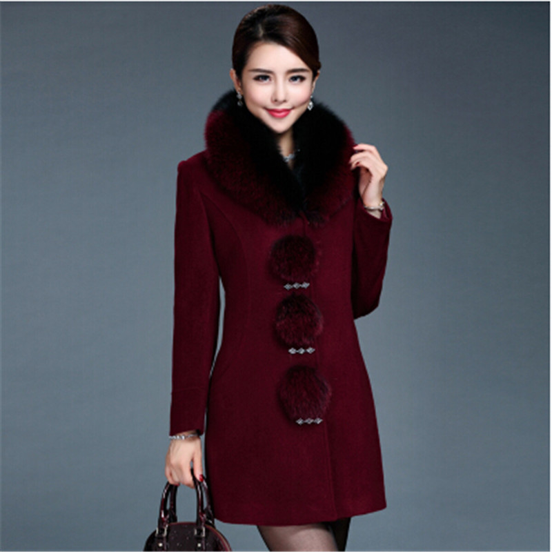 2016 High-grade Wool coat Women Cashmere coat Winter coat Mew style High quality MAO collar Noble Elegant Cashmere coat BN1150(China (Mainland))
