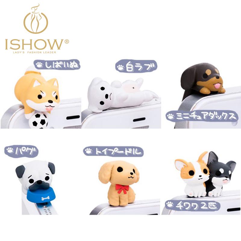 6pcs/lot Dachshund Dog -lovely 3.5mm dust Plug dog plugy Earphone Jack Plug Headset Stopper Cap(China (Mainland))