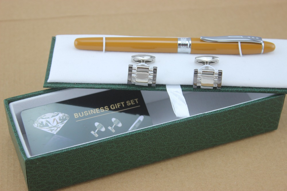 Hot! New High Quality Deluxe yellow business roller ball pen Vintage Wave Pattern Cuff Exquisite Free Shipping(China (Mainland))