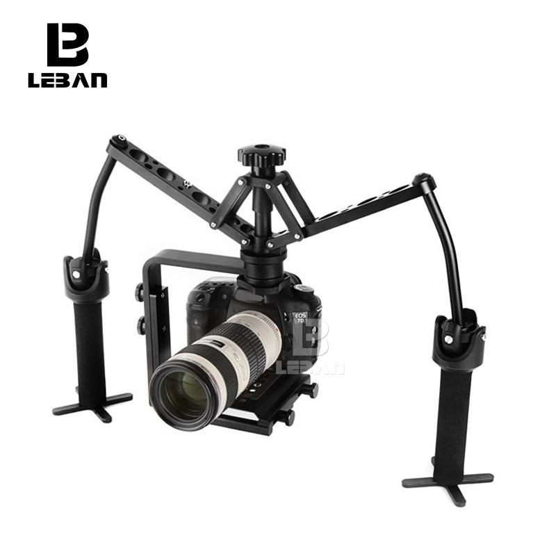 Бесплатные DHL ручками ручной стабилизатор Rig видео карданный Steadicam устойчивый подставка для Nikon DSLR видеокамера DV 5D3 6D камеры