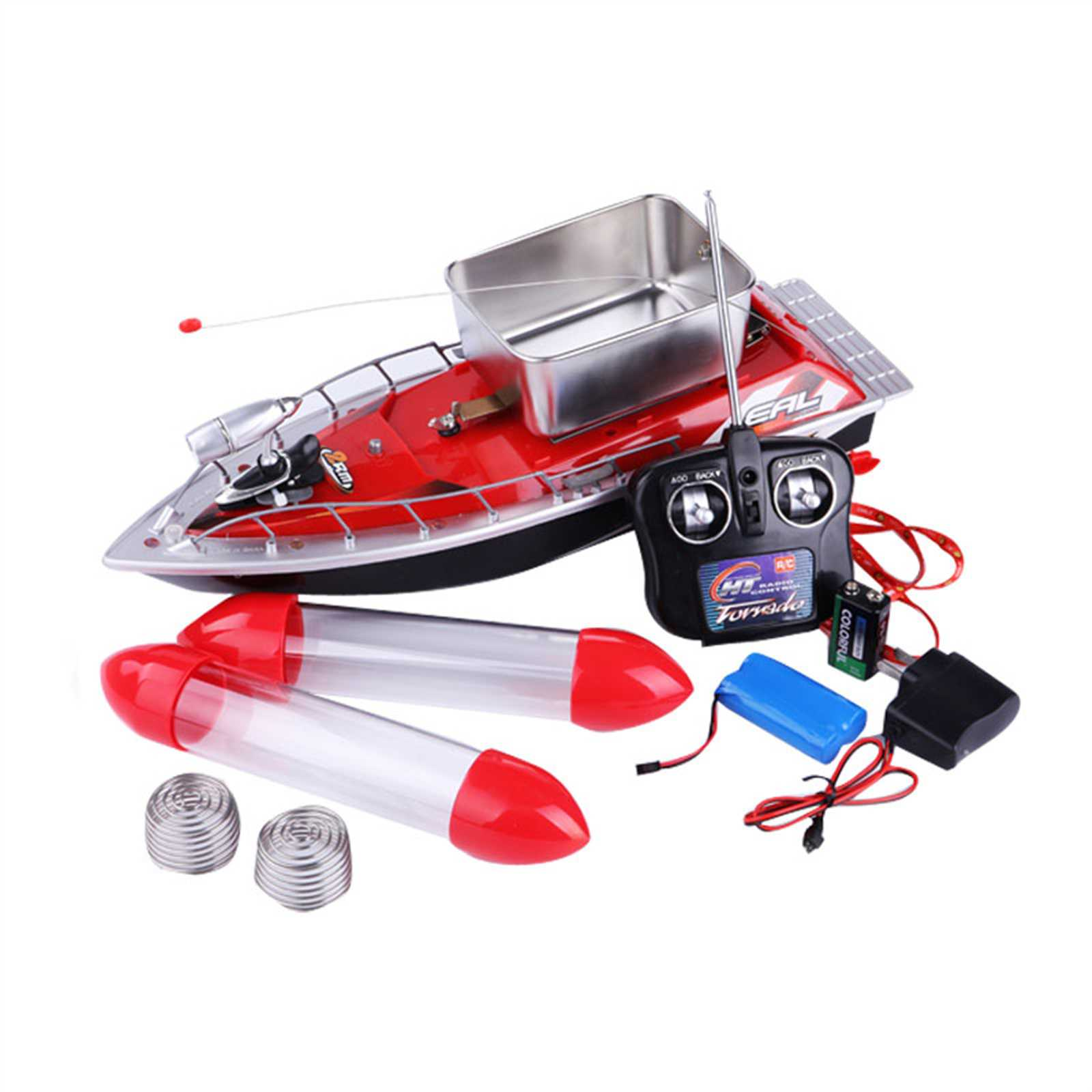 New Red Blue Green color Goture Mini RC 280M 300M Remote control Boat Fishing Lure Boat(China (Mainland))