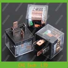 20pcs 12V 40A 4Pin High Power Transparent Car/Auto Waterproof Relay with LED light for Car Modification(China (Mainland))