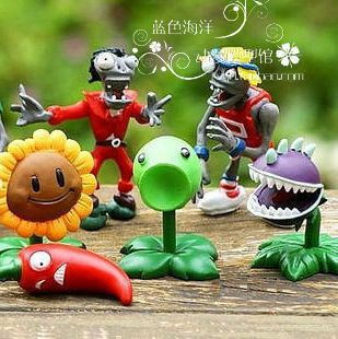 Global free postage Super cheap Plants vs zombies toy doll model Peashooter Sunflower(China (Mainland))