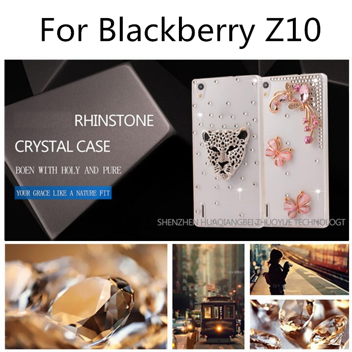 wholesale factory price 2015 1PCS free shipping mobile phone bagfor blackberry z10 bling diamond rhinestone case(China (Mainland))