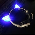 2016 Special Gaming Headset Foldable Flashing Glowing Cat Ear Headphones With LED Light For PC Laptop