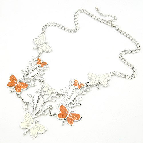 Korean fashion butterfly flying birds' twitter and fragrance of flowers and delicate necklace(China (Mainland))