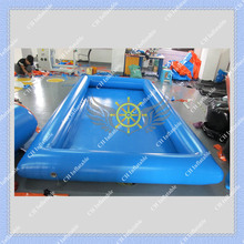 Blue 2m by 4m Inflatable Ball Pool Commercial Quality Air Sealed Ball Pool for Kids Free Shipping Air Pump Included(China (Mainland))