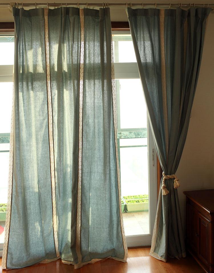 achetez en gros rideaux de dentelle bleue en ligne des grossistes rideaux de dentelle bleue. Black Bedroom Furniture Sets. Home Design Ideas