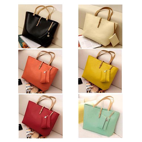 Promation!Vintage Simple PU Leather Women Handbag Lady Candy Color Bag Fashion Women's Shoulder Bag Ladies Messenger Bags Tote(China (Mainland))