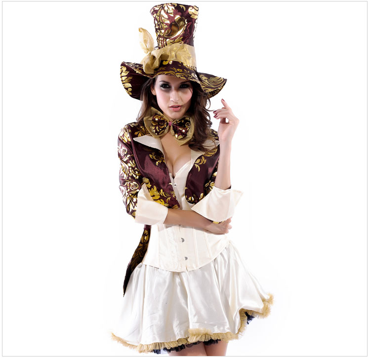Fashion Ladies Pirate Queen Apparel Suit Embroidery Coat & Corset & Skirt Halloween Party Role Play Costume HL8487(Hong Kong)