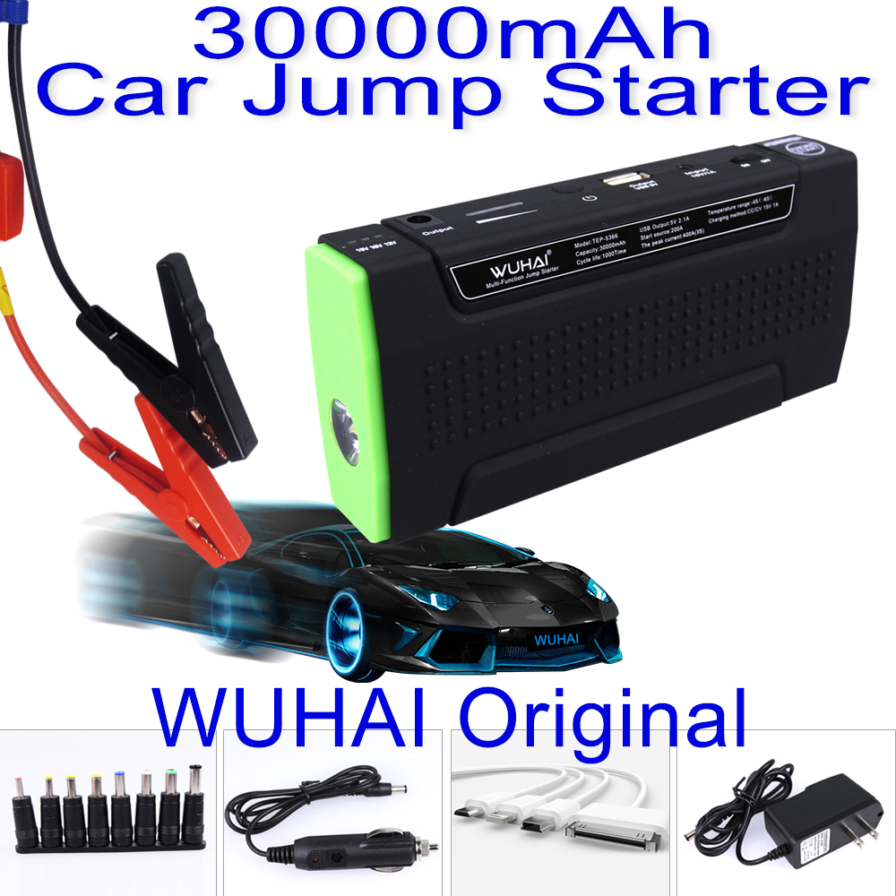 Original WUHAI 30000mAh Portable Car Jump Starter and Charger for Electronics Mobile Device Laptop Auto Engine Emergency Battery(China (Mainland))