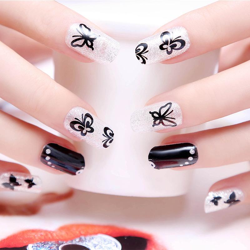 Full Nail Stickers 12PCS/1Sheet High End Top Quality Full Cover Nail Art Sticker Beauty Nail Decoration(China (Mainland))