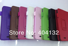 100PCS Good Quality Stand PU Cover Protector Skin Pen Holder Leather Case For Asus MEMO Pad ME172V Cover(China (Mainland))