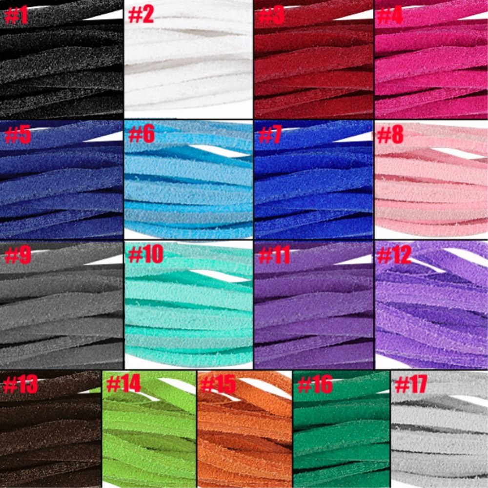 17pcs/lot Bracelet Craft Faux Suede Cord Strap Lace Leather Flat Cord DIY String Rope ES4631(China (Mainland))