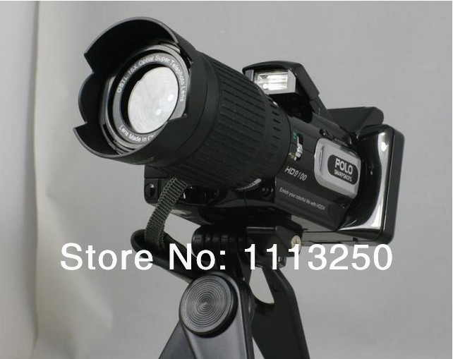 Free Shipping HD9100 Full HD camcorder 16 million pixels 16 times longer zoom HD video built-in speaker(China (Mainland))