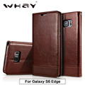 S6 Edge Case Luxury PU Leather Wallet Case For Samsung Galaxy S6 Edge Silicone Magnetic Flip