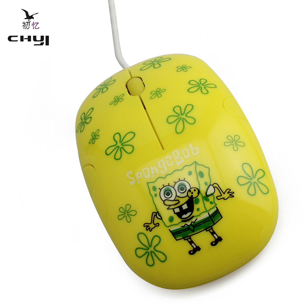 CHYI Lovely Kids Girl Yellow Color Cartoon Mouse 3D mini Wired Cute Optical Mause Mice 1600 DPI Gaming Mouse for Laptop Computer(China (Mainland))