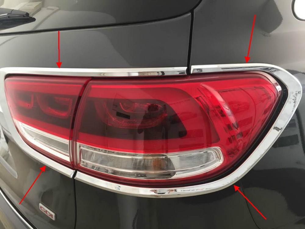 Chrome Tail Light Lamp Cover Trim For 2015 Kia Sorento In