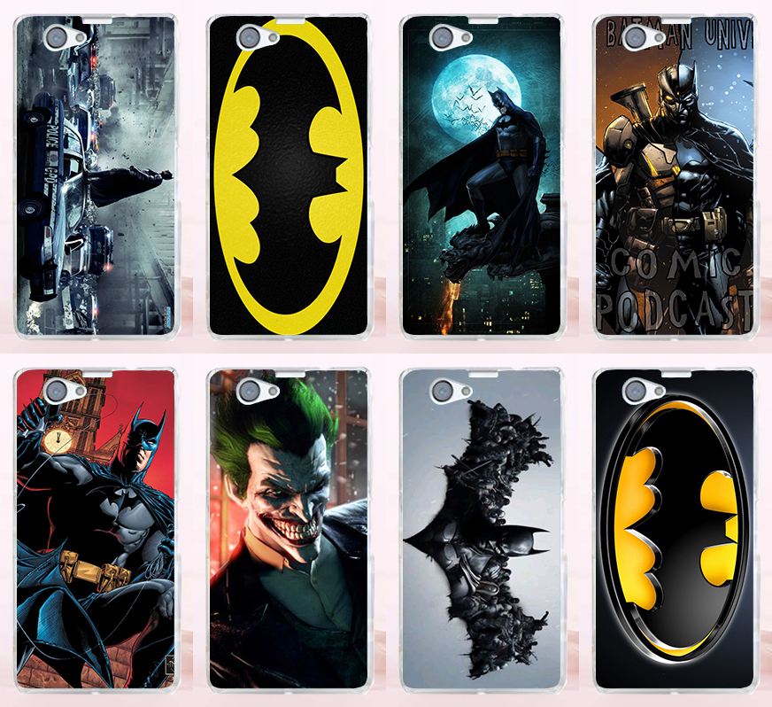 1Pcs/lot Good Selling Cool Batman Bat Man PC Plastic Phone Cases Covers For Sony Xperia Z1 Mini Z1 Compact Case Cover Shell(China (Mainland))
