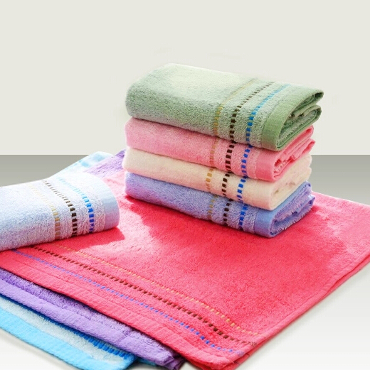Colorful Kids Children Wash Hand Face Towel Soft Bamboo Fiber Absorbent Bath Towels For Bathroom