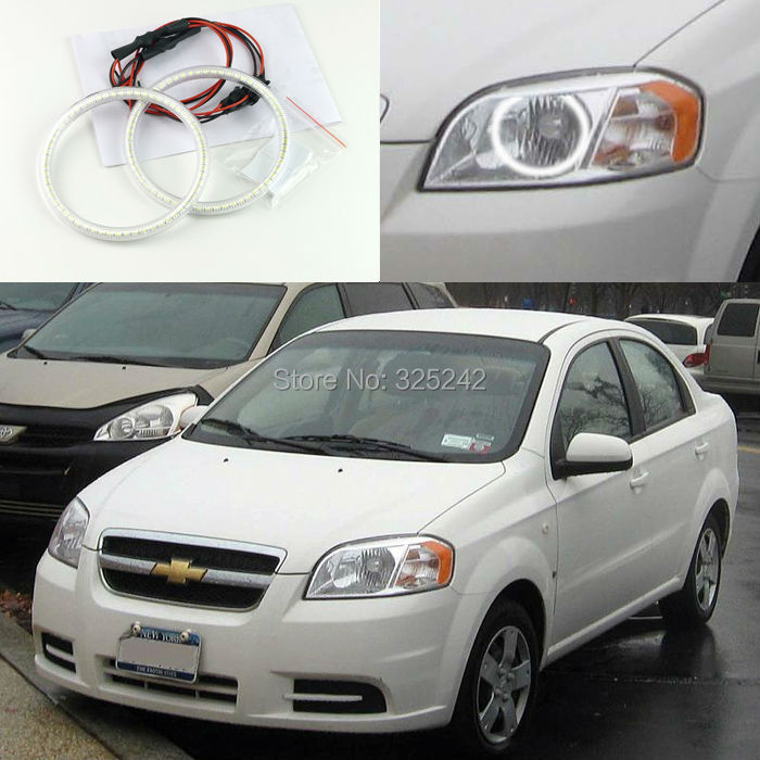 For Chevrolet Aveo T250 sedan 2006 2007 2008 2009 Excellent led Angel Eyes Ultrabright smd led Angel Eyes Halo Ring kit 4pcs gold antique brass hexagon knobs cabinet knob handle dresser knobs drawer pulls kitchen furniture hardware