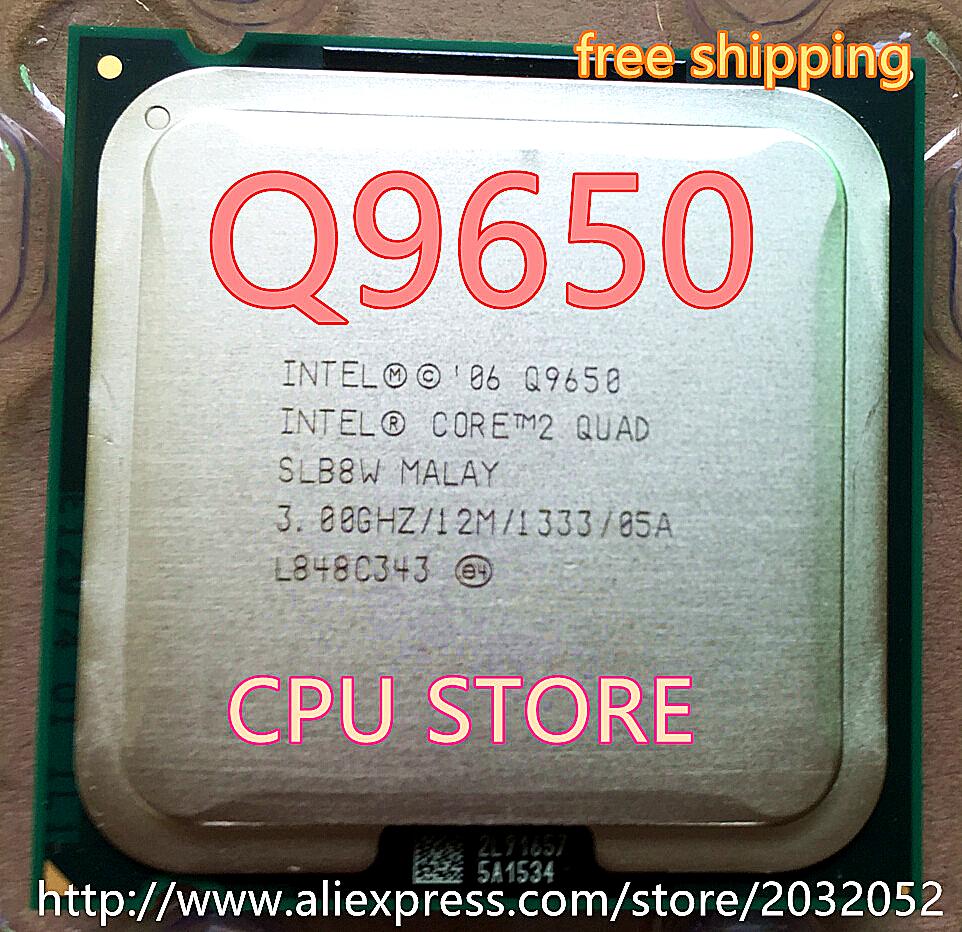 lntel Core 2 Duo Q9650 2 QUAD Q9650 Processor(3.0GHz /12MB Cache /FSB 1333 )Desktop LGA 775 CPU(China (Mainland))