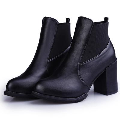 2015 New Women boots Martin fashion Shoes Autumn Winter Boots high heels thick heel pointed toe single shoes - JIUJIU Store store