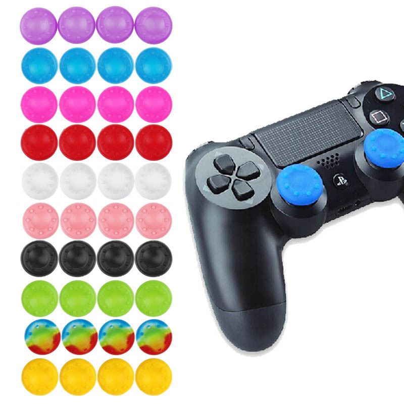 Scolour 4x Silicone Gel Thumb Stick Cover For Sony PS4 3 XBOX One 360 Controller(China (Mainland))