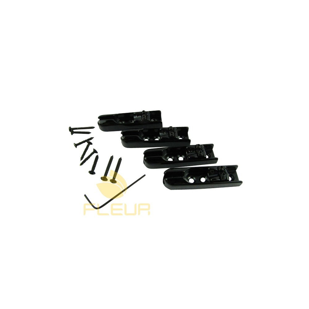 NEW 1 Set Black 4 String Bass Bridge Set High Quality Upgrade Individual Bass Bridge 4pcs/Set(China (Mainland))