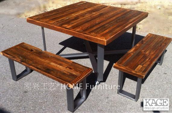 outdoor antique industrial modern style recycled wood