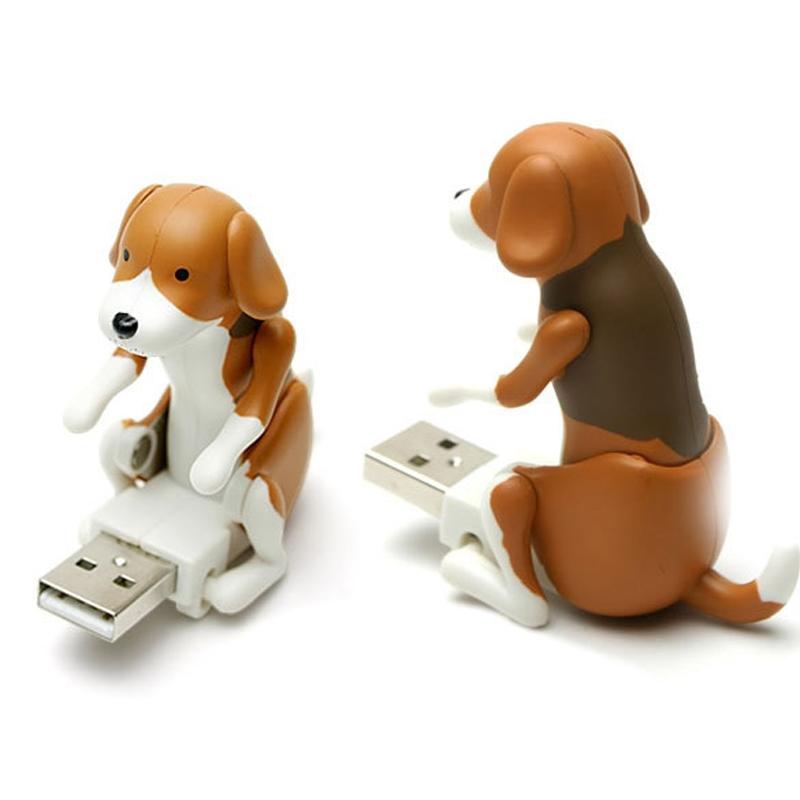 Portable 60x30x60mm Funny Cute Pet USB Humping Spot Dog Toy Christmas Gray New(China (Mainland))