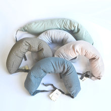 2015 New Sale Travel Pillow Portable Cervical Striped Pillow 5 colors Good Quality Foam Therapy Neck U-Shape Pillow wholesales(China (Mainland))