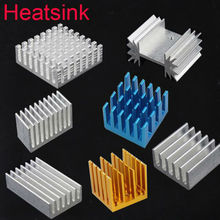 20pcs Aluminum IC Two-electrode tube Dynatron Cooling Cooler Heat Sink Heatsinks with tape 14x14x6mm(China (Mainland))