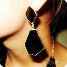 New Fashion Women Drop Dangle Earrings Eardrops Chic Bohemia Metal Inlay Acrylic  02YL(China (Mainland))