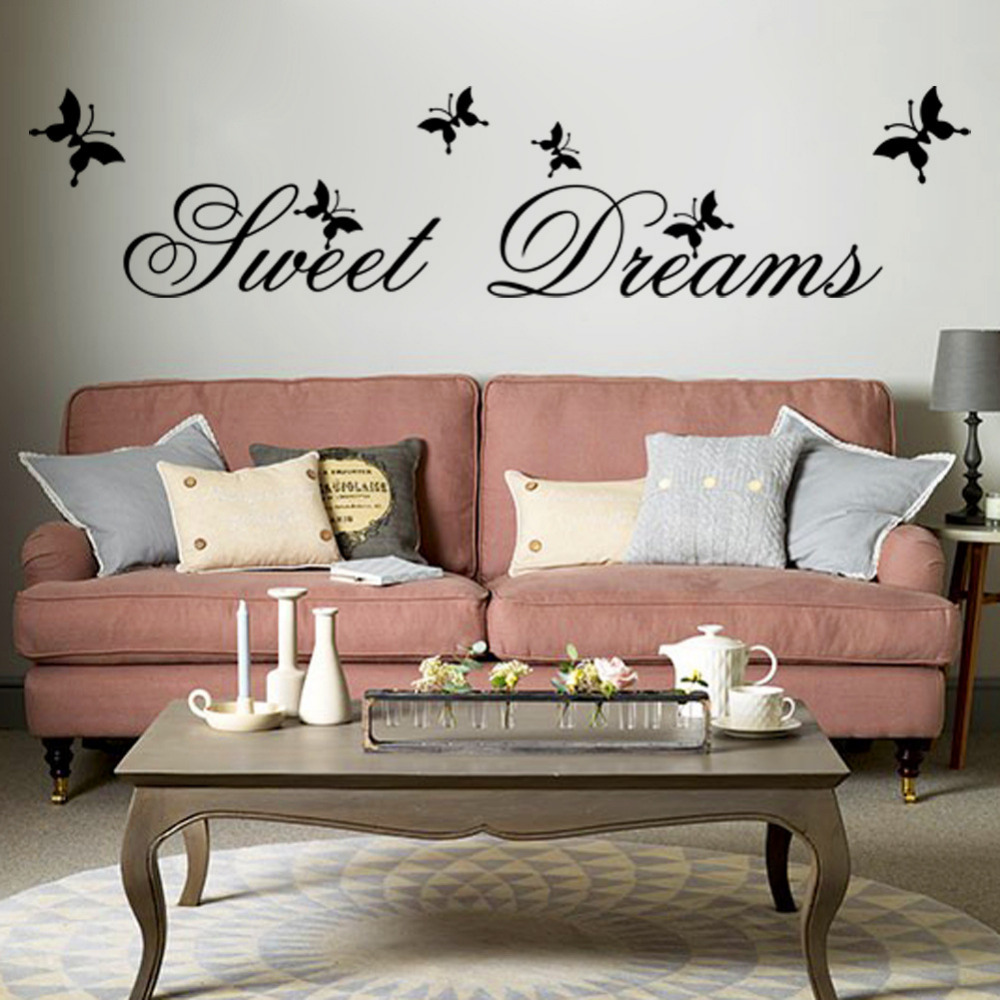 Sweet-Dream-Wall-Stickers-for-Bedroom-Living-Room-Backdrop-Home-Decor ...