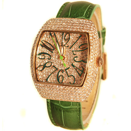 fashion ladies women full diamond genuines leather wristwatch quartz watch<br><br>Aliexpress
