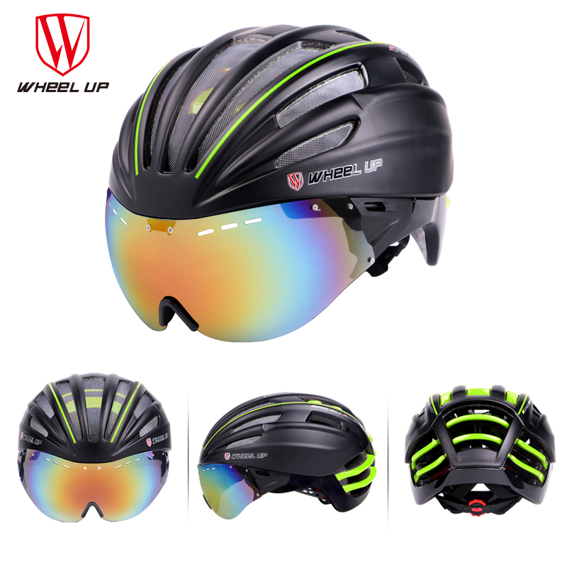 WHEEL UP New Integrally Aerodynamic EPS Lens Cycling Helmet Ultra-Light Mountain Bike Helmet MTB Bicycle Helmet Bike Accessories(China (Mainland))