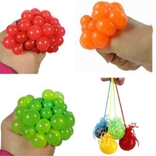2015 New Arrival Funny Novelty Squeeze Hand Wrist Toy Stress Relief Healthy Venting Ball Grape Shape Good Selling(China (Mainland))