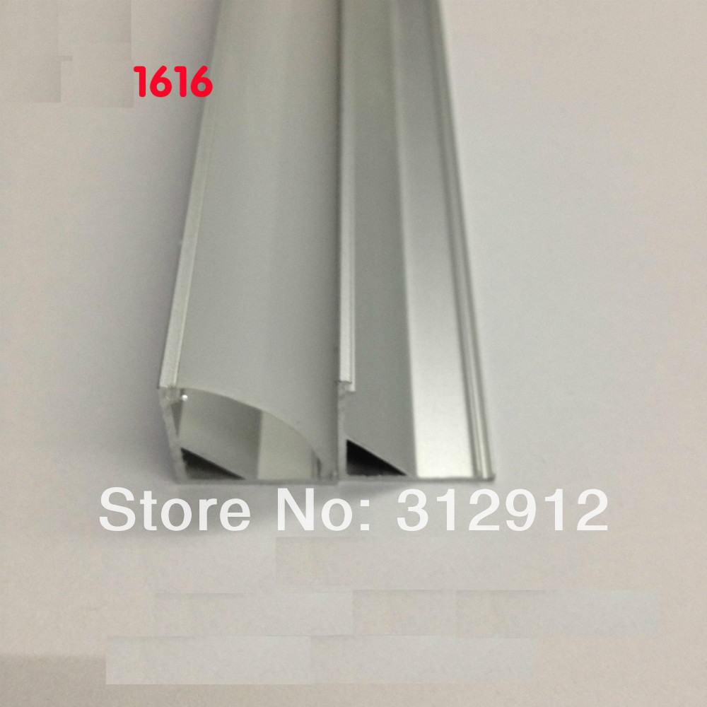 RA-1616;1M long LED aluminum profile(anodized silver color) with PC cover;for flexibe or hard LED strips<br><br>Aliexpress