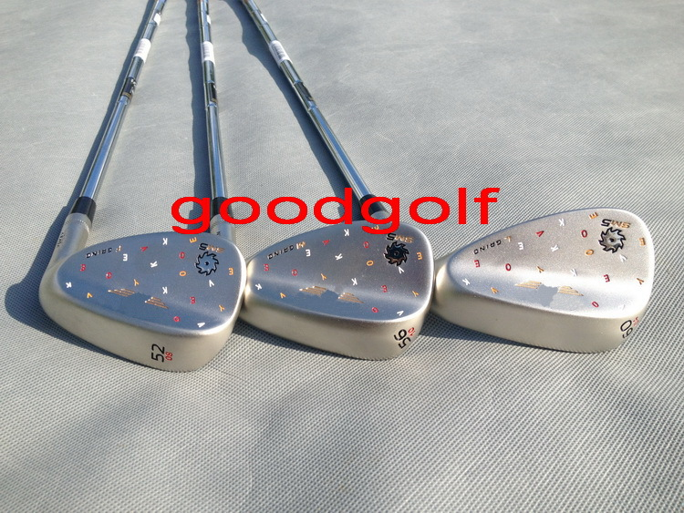 Hot 2015 new golf clubs Limited Edition SM5 Champagne color Golf Wedges 52/56/60 degree with steel shafts DHL free shipping(China (Mainland))
