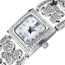 2015 recién llegado de diseño hueco mujeres de latón reloj de pulsera banda de Metal con cristal de reloj del movimiento del envío libre 15639
