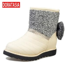 DoraTasia Hot Women Snow Boots For Winter Leisure Round Toe Flat Heel Shoes Women Umbrella Design Fashion Boots(China (Mainland))