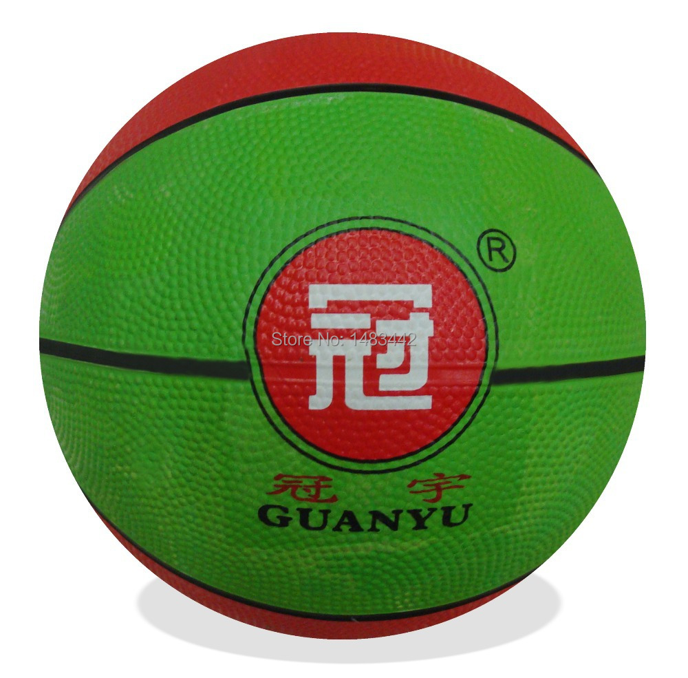Free shipping - G-manufacturer promotions, 3# multicolor, training, low-cost, rubber basketball(China (Mainland))